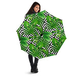 Exotic Tropical Leaves Pattern Print Foldable Umbrella GearFrost