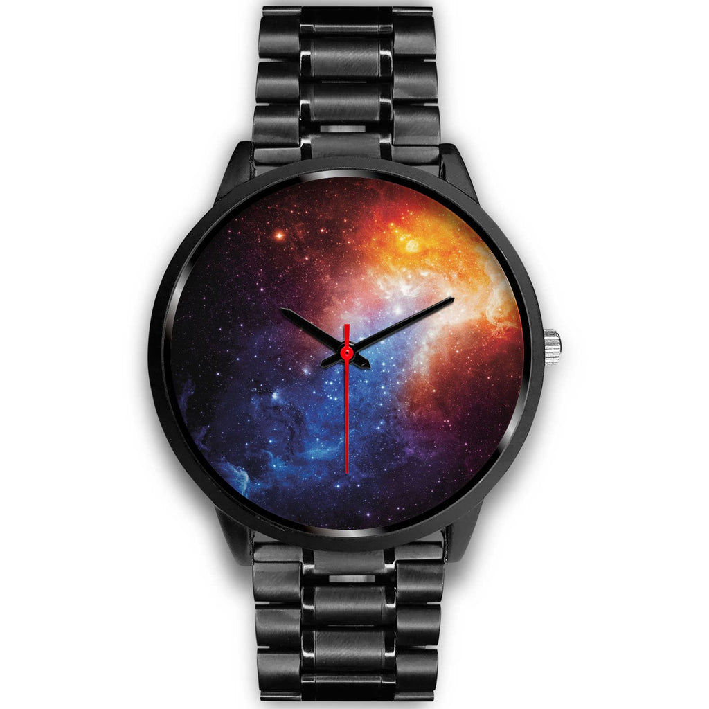 Fiery Universe Nebula Galaxy Space Print Black Watch GearFrost