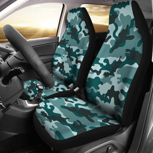 Forest Green Camouflage Print Universal Fit Car Seat Covers GearFrost