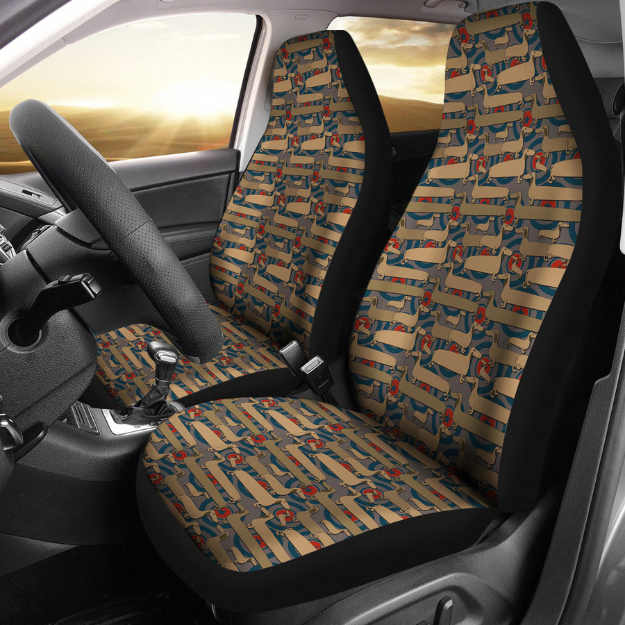 Abstract Dachshund Pattern Universal Fit Car Seat Covers