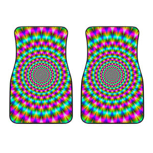Psychedelic Rave Optical Illusion Front Car Floor Mats