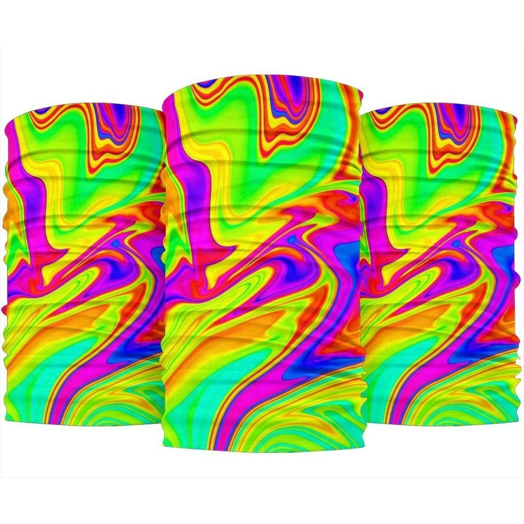 Abstract Liquid Trippy Print Bandana