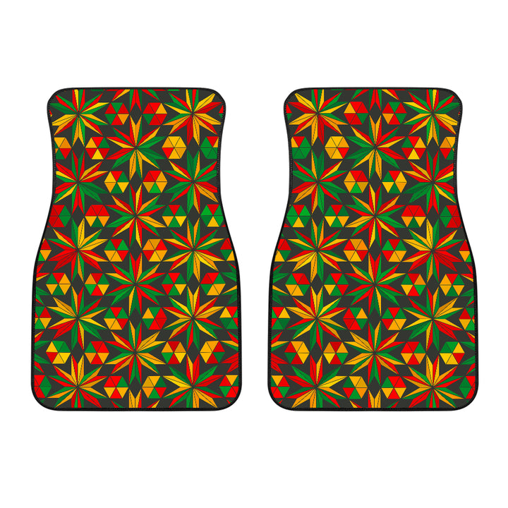 Abstract Geometric Reggae Pattern Print Front Car Floor Mats