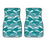 Surfing Wave Pattern Print Front Car Floor Mats
