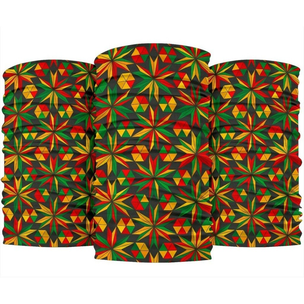 Abstract Geometric Reggae Pattern Print Bandana