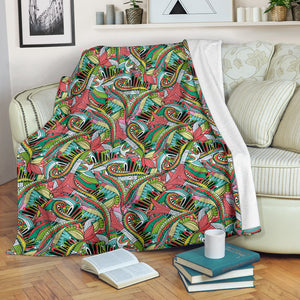 Retro Funky Pattern Blanket