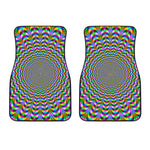 Psychedelic Web Optical Illusion Front Car Floor Mats