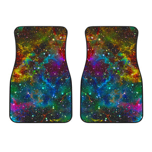 Abstract Colorful Galaxy Space Print Front Car Floor Mats