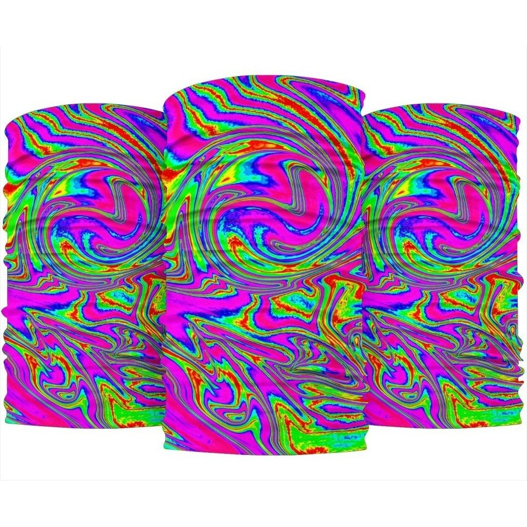 Abstract Psychedelic Liquid Trippy Print Bandana