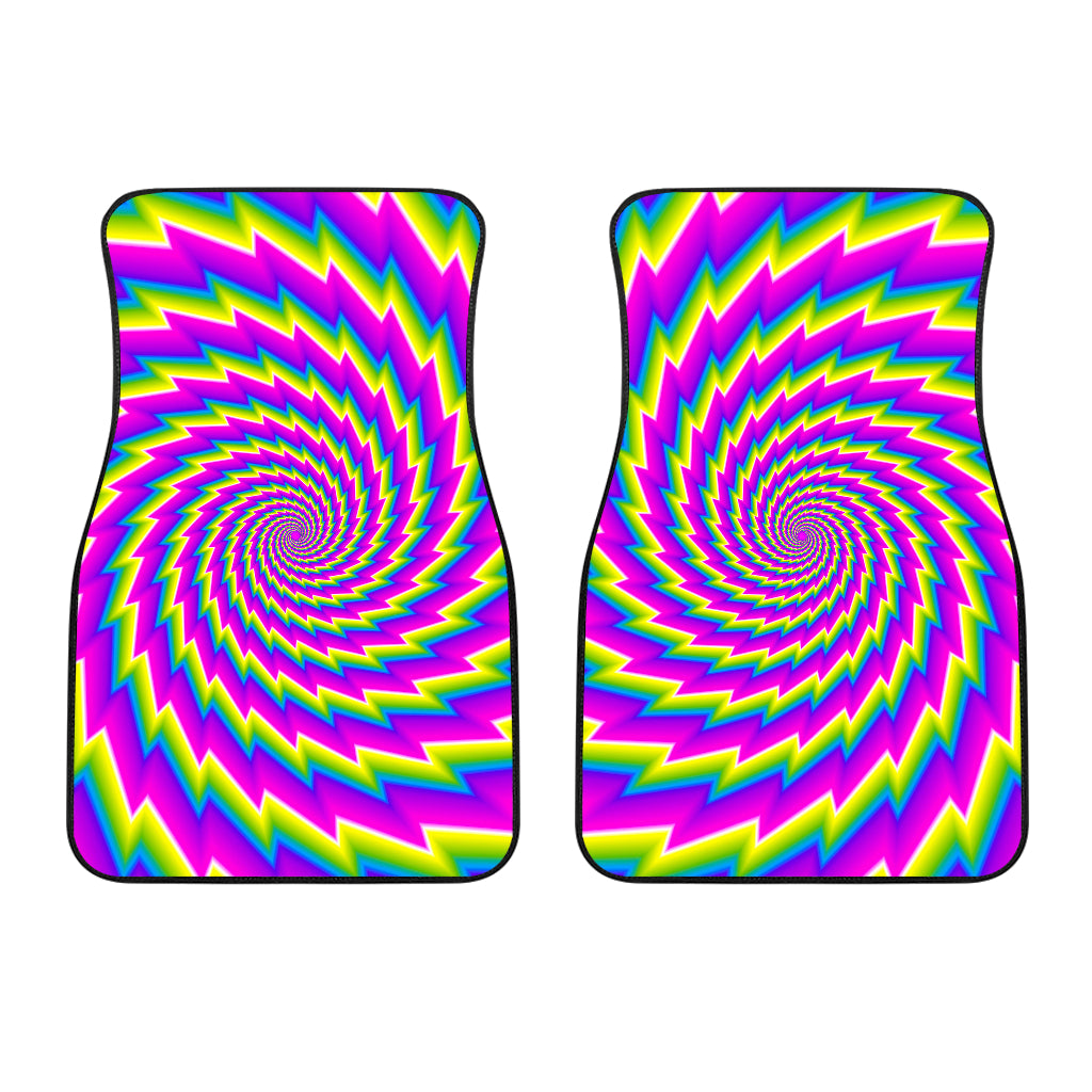 Abstract Twisted Moving Optical Illusion Front Car Floor Mats