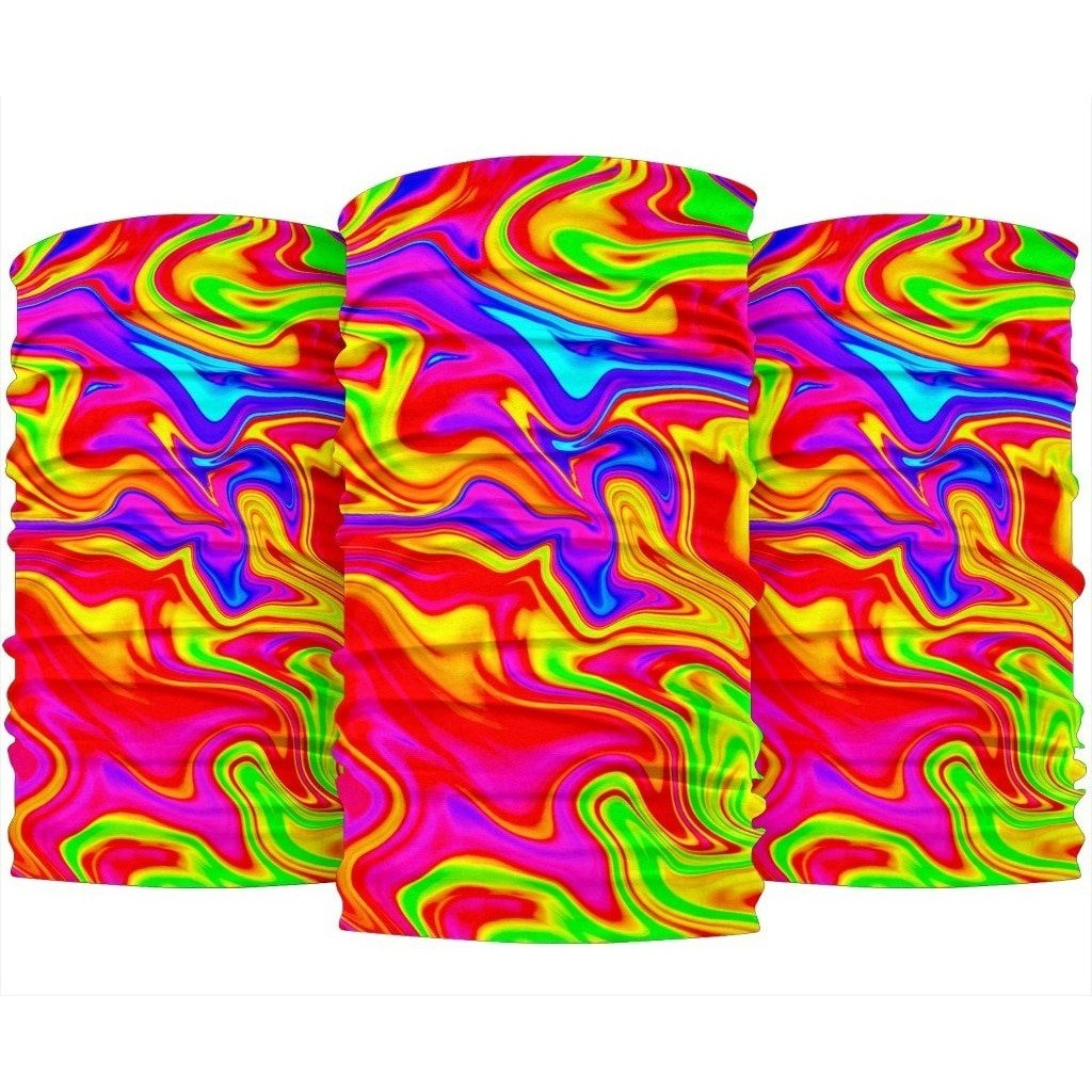 Abstract Colorful Liquid Trippy Print Bandana