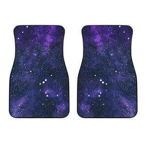 Dark Purple Galaxy Outer Space Print Front Car Floor Mats