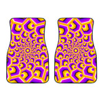 Yellow Hive Moving Optical Illusion Front Car Floor Mats