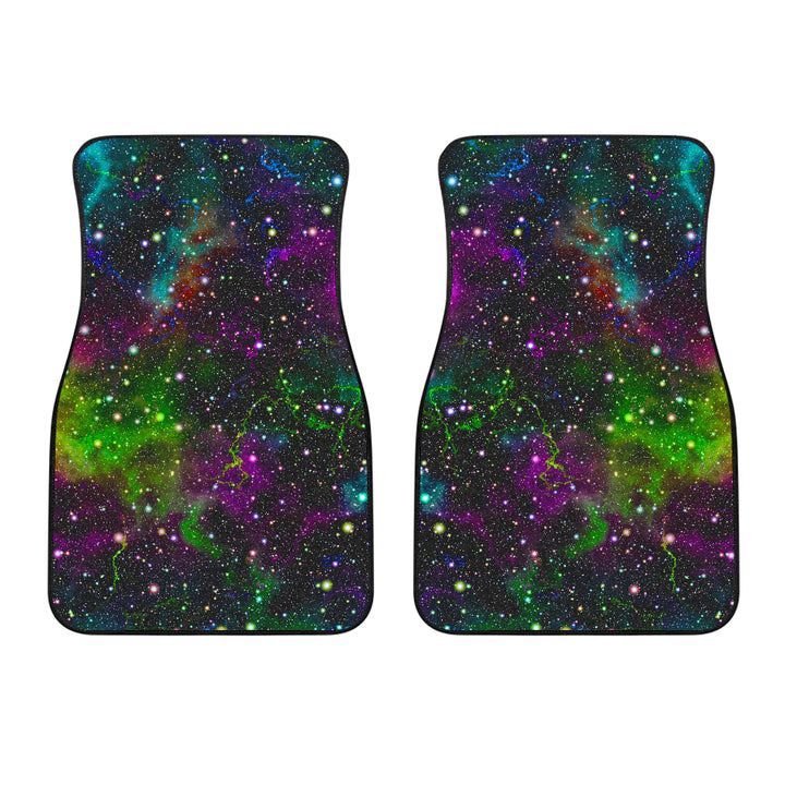 Abstract Dark Galaxy Space Print Front Car Floor Mats