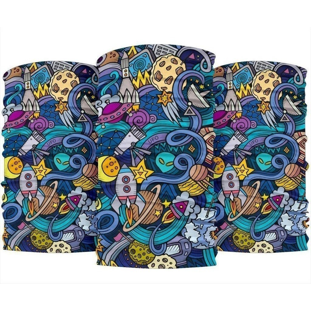 Abstract Cartoon Galaxy Space Print Bandana