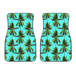 Tropical Palm Tree Pattern Print Front Car Floor Mats