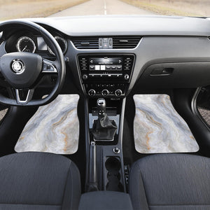 Grey Marble Print Front Car Floor Mats