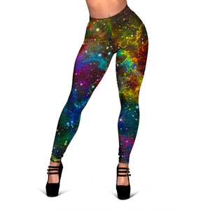 Abstract Colorful Galaxy Space Print Women's Leggings