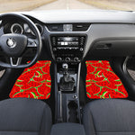 Cute Watermelon Pieces Pattern Print Front Car Floor Mats