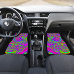 Abstract Psychedelic Liquid Trippy Print Front Car Floor Mats