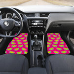Purple Fancy Watermelon Pattern Print Front Car Floor Mats