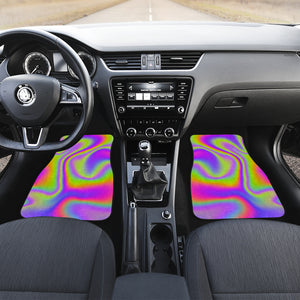 Abstract Holographic Trippy Print Front Car Floor Mats
