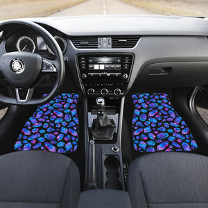 Blue Crystal Cosmic Galaxy Space Print Front Car Floor Mats