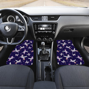 Night Winged Unicorn Pattern Print Front Car Floor Mats