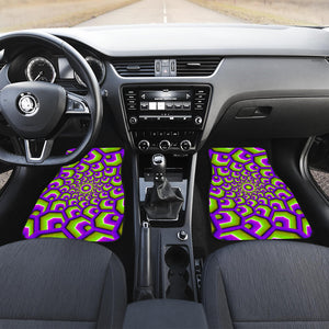 Green Hive Moving Optical Illusion Front Car Floor Mats