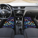 Black Triangle Galaxy Space Print Front Car Floor Mats