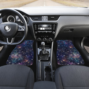 Constellation Galaxy Space Print Front Car Floor Mats