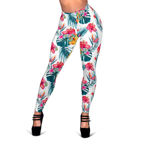 Aloha Hawaii Floral Pattern Print Women's Leggings