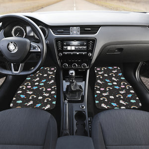 Star Space Unicorn Pattern Print Front Car Floor Mats