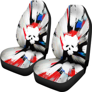 Abstract Skull Universal Fit Car Seat Covers