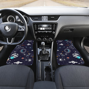 Universe Galaxy Outer Space Print Front Car Floor Mats