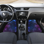 Blue Purple Cosmic Galaxy Space Print Front Car Floor Mats