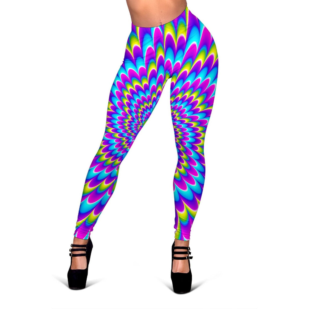 Abstract Dizzy Moving Optical Illusion Women's Leggings