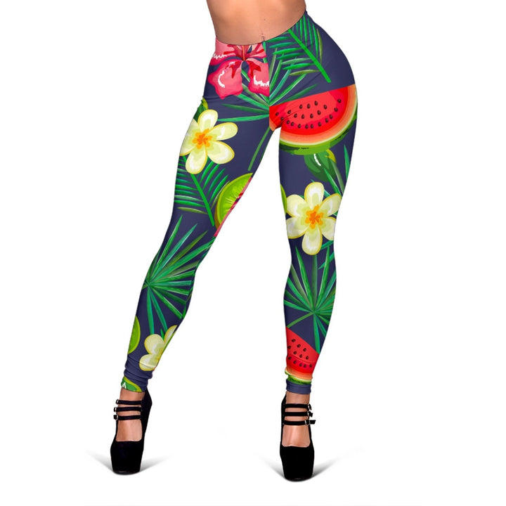 Aloha Tropical Watermelon Pattern Print Women's Leggings