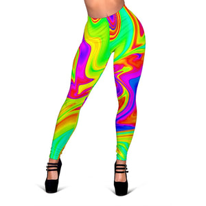 Abstract Liquid Trippy Print Women's Leggings