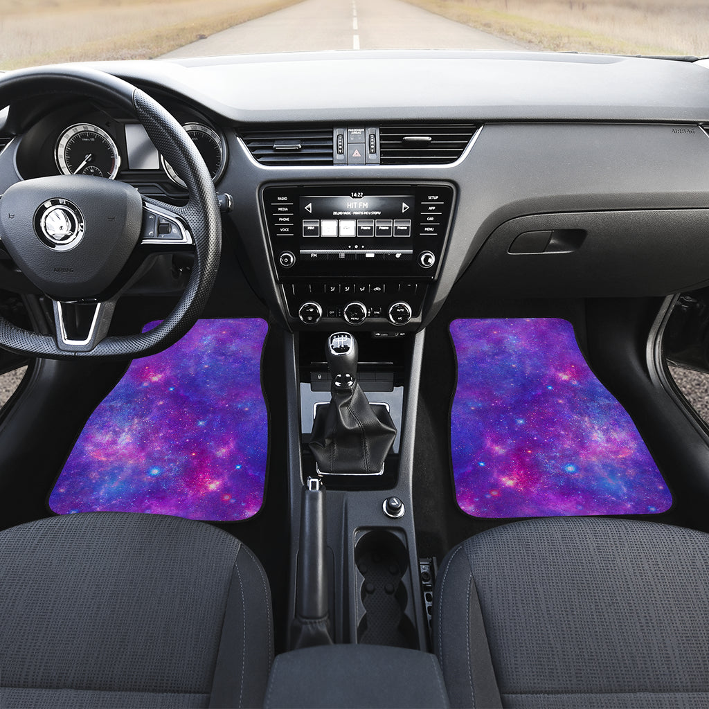 Purple Stardust Cloud Galaxy Space Print Front Car Floor Mats