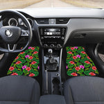 Monstera Hibiscus Hawaii Pattern Print Front Car Floor Mats