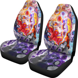 Abstract Colorful Painting Universal Fit Car Seat Covers