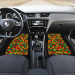 Abstract Reggae Pattern Print Front Car Floor Mats