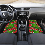 Tropical Leaf Watermelon Pattern Print Front Car Floor Mats