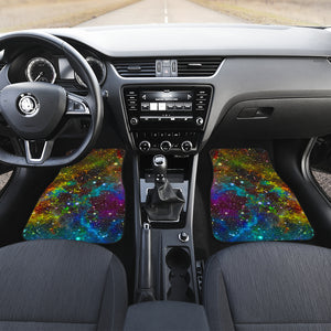 Abstract Colorful Galaxy Space Print Front and Back Car Floor Mats