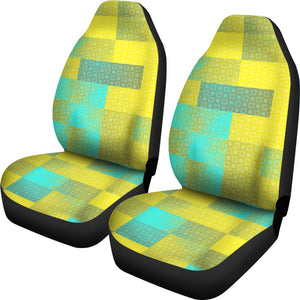 Abstract Yellow Pattern Universal Fit Car Seat Covers