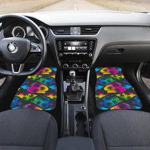 EDM Beach Palm Tree Pattern Print Front Car Floor Mats