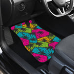 Colorful Palm Tree Pattern Print Front Car Floor Mats