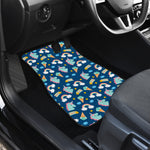 Cute Girly Unicorn Pattern Print Front Car Floor Mats