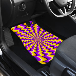 Yellow Dizzy Moving Optical Illusion Front Car Floor Mats
